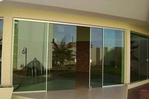 porta de vidro de correr