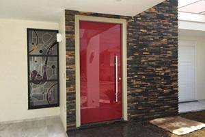 porta de vidro para sala